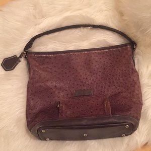 Longchamp Legende ostrich leather hobo bag